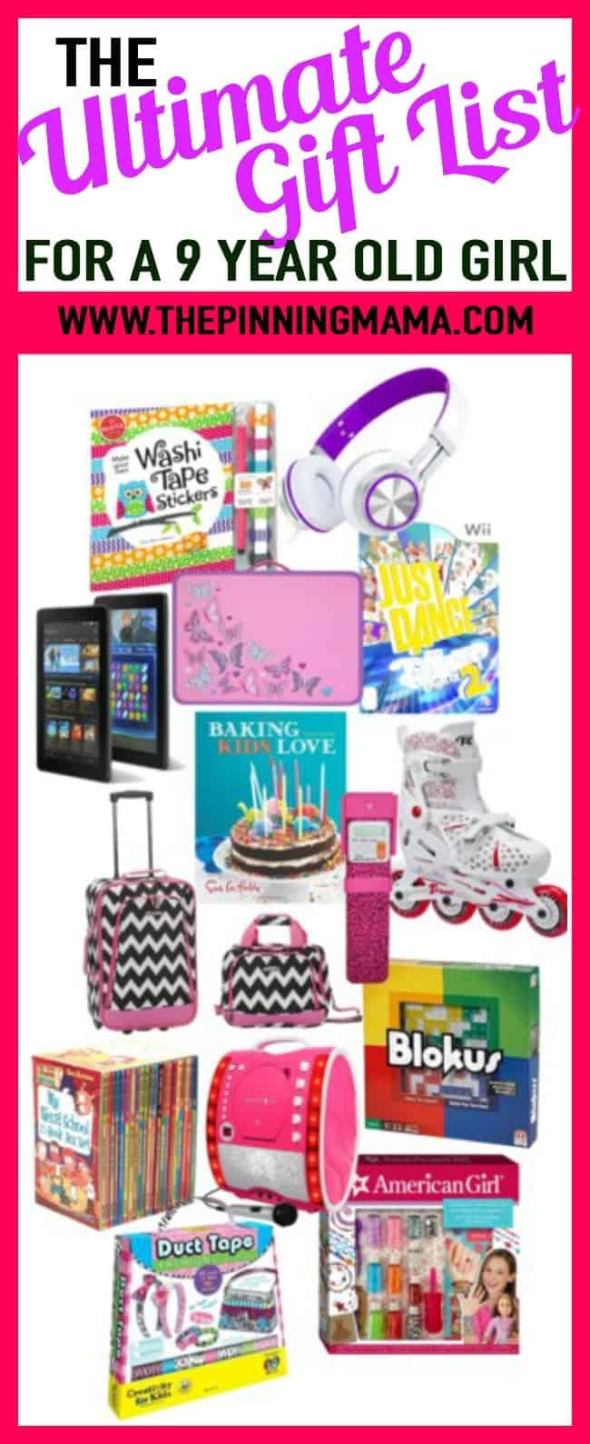 The BEST gift ideas for a 9 year old girl- includes ideas for games,