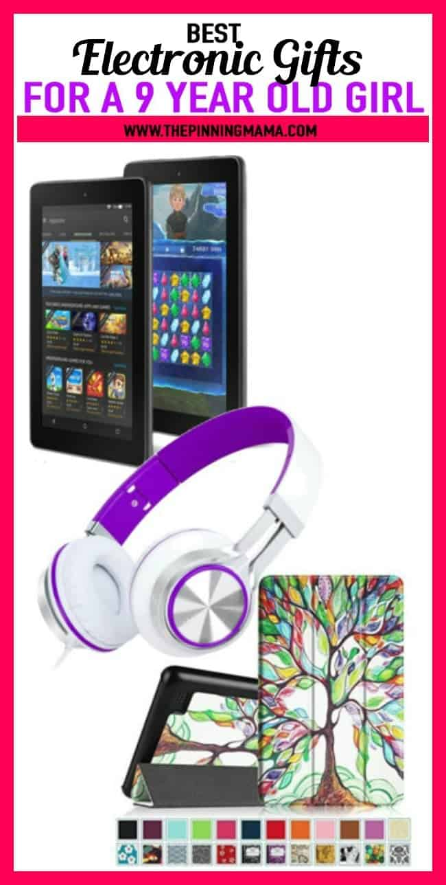 Electronic Gift Ideas for a 9 year old girl- Including tablets, headphones, and accessories, these gift ideas for birthday or Christmas and anything in between