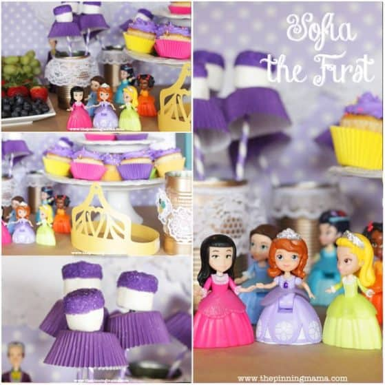 Sofia the First Party snack, activity and craft ideas