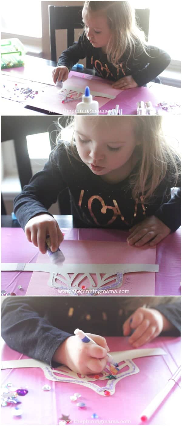 DIY Princess Crown with Free Printable- perfect craft activity for a Princess party!