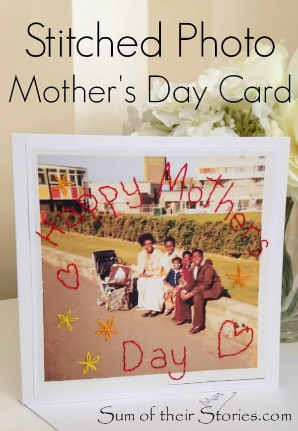 Stitched photo mothers day card 2