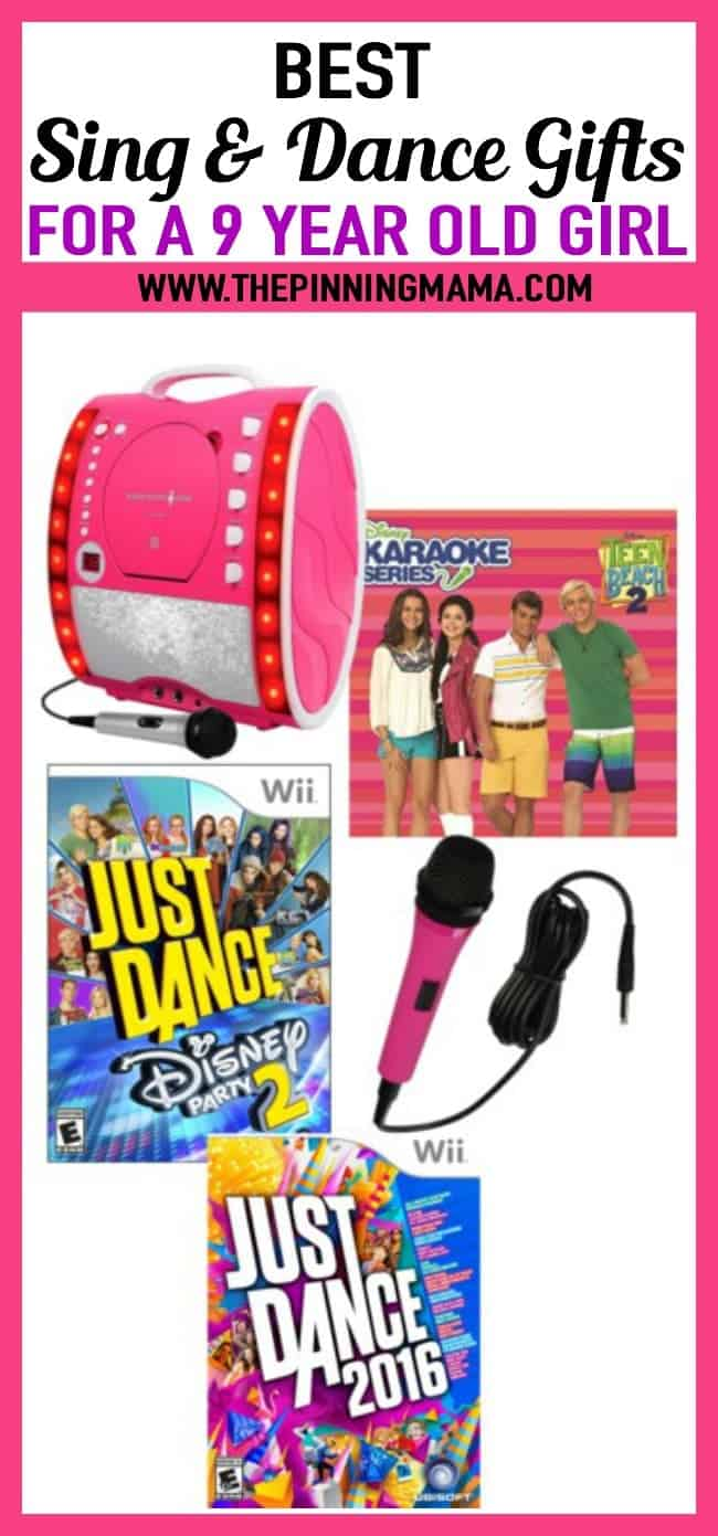 Best Sing and Dance Gift Ideas for a 9 year old girl- Includes karaoke, Just dance, and microphone