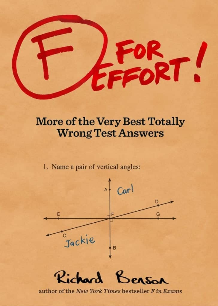 10+ Smarter Gift Ideas Teachers will Love: F for Effort Book| www.thepinningmama.com