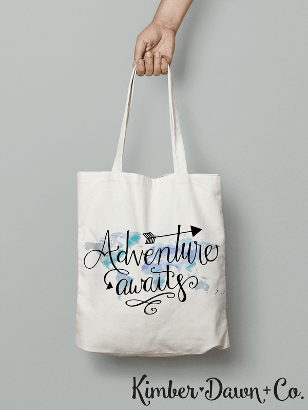 FREE Silhouette Cut File: Adventure Awaits {hand lettered}