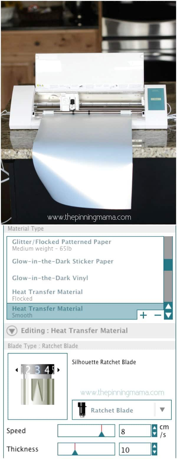 How to cut Gold Foil Heat Transfer Vinyl with your Silhouette CAMEO. Cut settings for HTV included!!