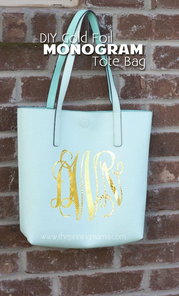 Easy way to make your own customized tote bag with your initials! Make with Iron on foil!! Full tutorial and for this simple craft!