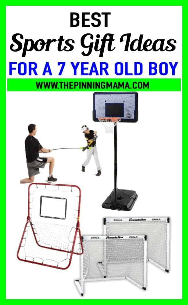 Best gifts for a 7 year old boy who loves sports. Includes soccer, baseball, basketball and more!