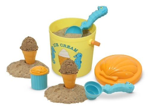 10+ Best Games and Toys for a Fun Day at the Beach: Sand Ice Cream Set | www.thepinningmama.com