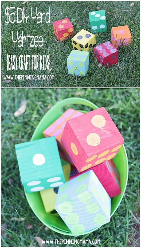 10+ Outdoor Boredom Busting Activities for Kids: DIY Yard Yahtzee | www.thepinningmama.com