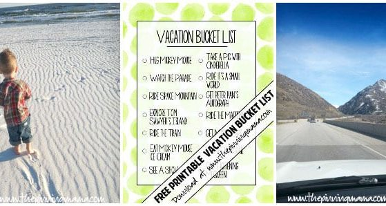 Free Printable Vacation Bucket List - Customize with everything you want to do on your trip then let your kids have tons of fun checking it off as you go! This is one of the BEST ways to make memories with kids on vacation!!