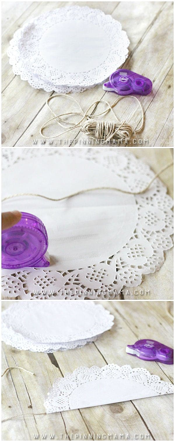 Diy Shabby Chic Doily Garland The Pinning Mama