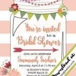 Free Printable Mason Jar Invitation