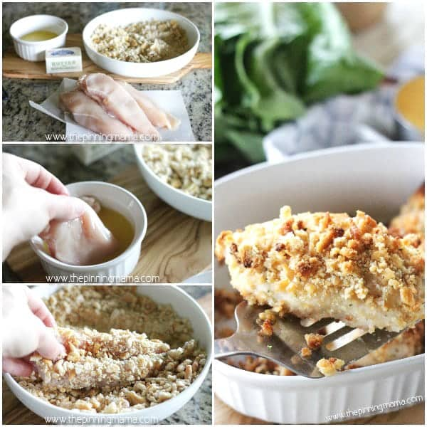 Ritz Cracker Chicken Bake Recipe - You will LOVE this recipe! So quick and easy and kids and adults love it! It tastes like comfort food but you can make it in just a few minutes and everyone always cleans their plate and asks for seconds!!