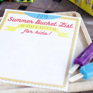 2016 Summer Bucket List {50 Ideas & Activities for Kids}
