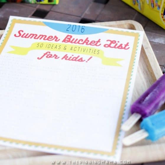 FREE Summer Bucket List - 50 ideas and activities to keep your kids busy this summer!