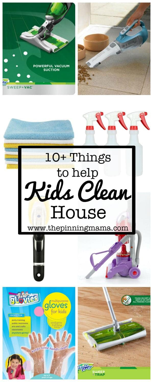 Cool products that even little kids can use to help them learn to clean! We are big into responsibilities at our house and these really help them learn age appropriate chores.