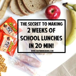 The Secret to Making 2 Weeks of School Lunches in 20 Minutes!