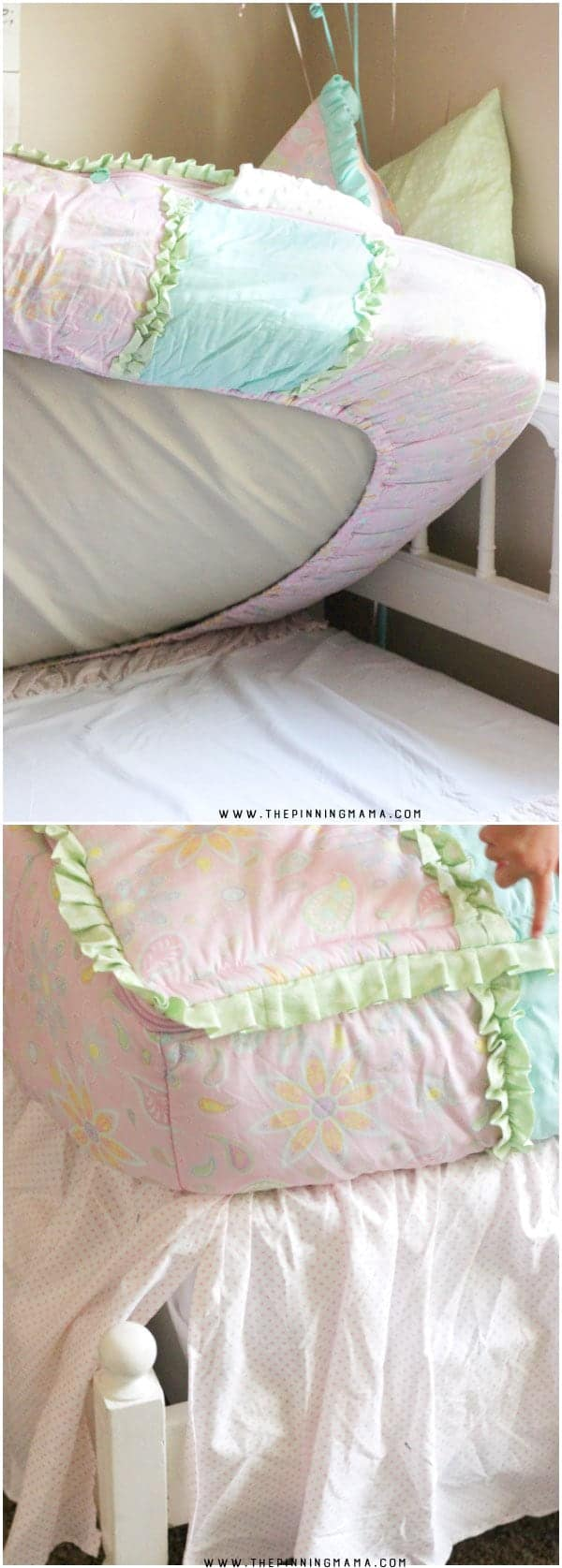 This kids bedding is one piece expertly made to replace the comforter, flat sheet, fitted sheet, and cuddle blanket. I love it because the bedding never shifts around no matter how crazy your kids sleep!