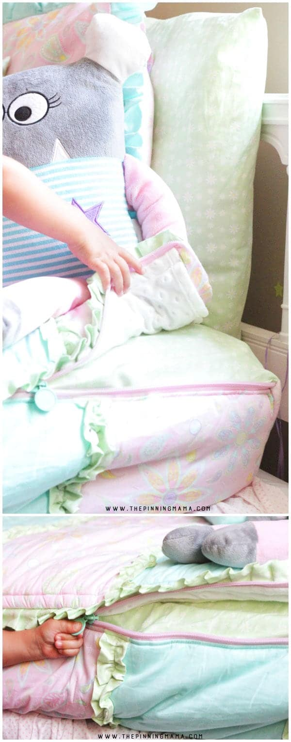 This is GENIUS! Zipper bedding for kids is so easy to make and with just a zip they have a perfectly made bed each day!
