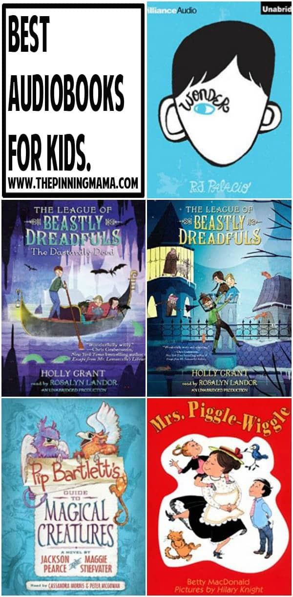 More Great Audio Books for Kids! Use this list for your road trips this summer. This is a gret way to pass the time in the car and fosters great conversation with kids!