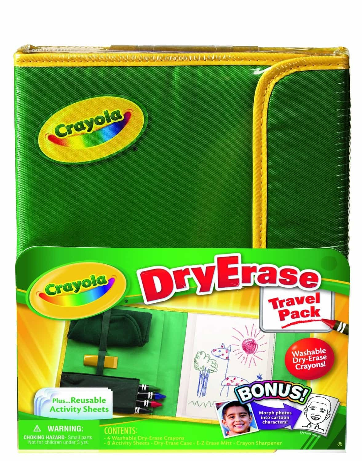 10+ Awesome Ways to Entertain your Kids on a Roadtrip: Dry Erase Activity Center | www.thepinningmama.com