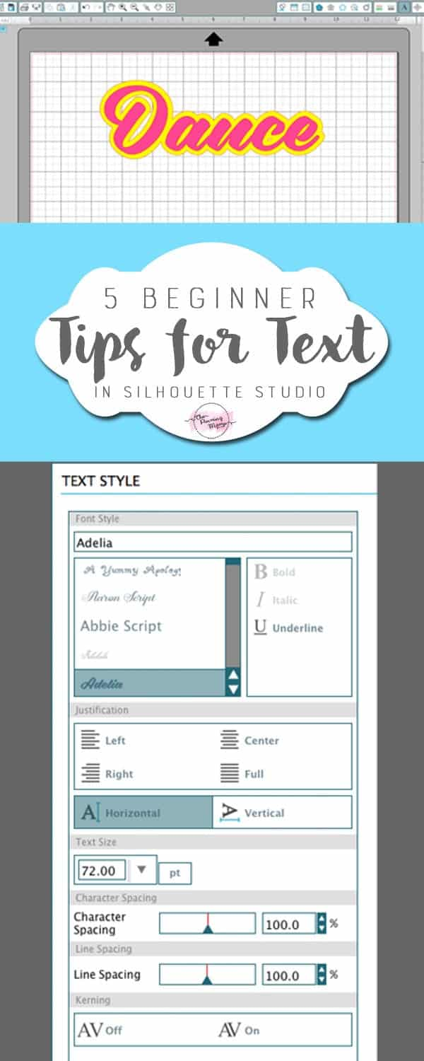 5 Beginner Tips for Text in Silhouette Studio • The Pinning Mama