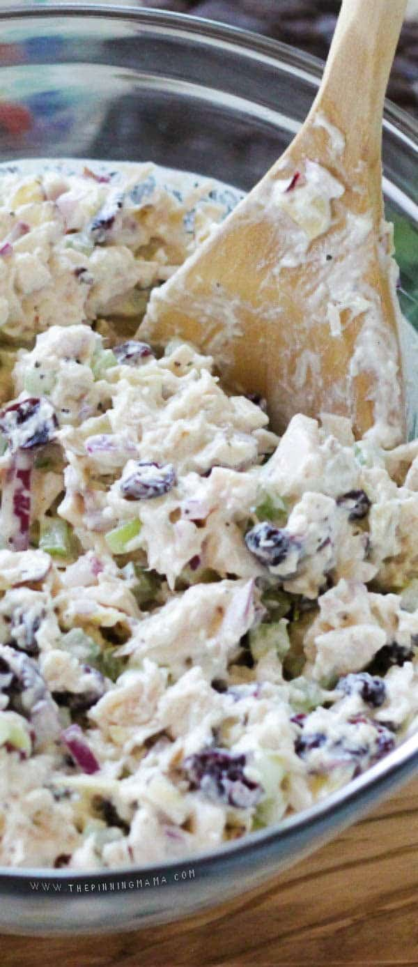 Sweet creamy chicken salad!   This is my FAVORITE recipe!