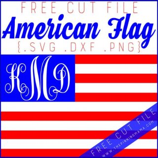 FREE American Flag SVG Cut File