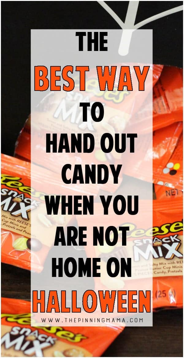 Halloween Hack- The BEST way to hand out candy when you aren't home on Halloween. This is seriously GENIUS!