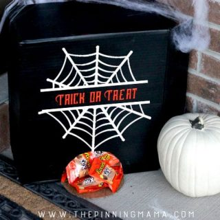 The BEST Way to Hand Out Candy When You Aren't Home for HALLOWEEN! {Plus FREE Silhouette Cut File}