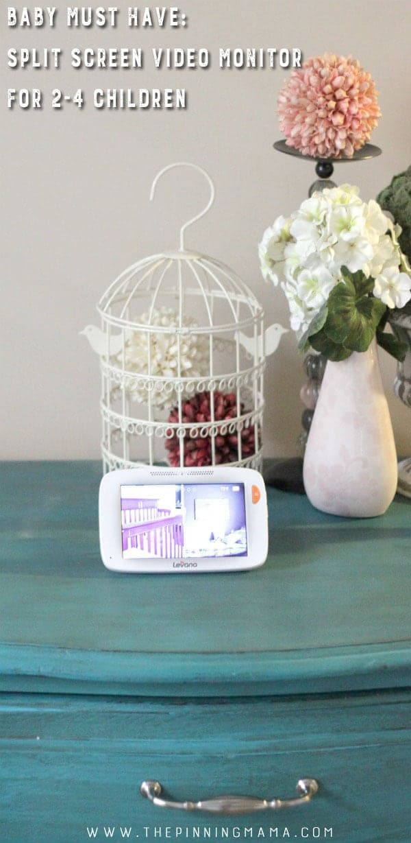Baby Must Have- Video monitor with split screen. If you plan on having more than one kid, you will want to see both of them on a monitor so this is a great pick!