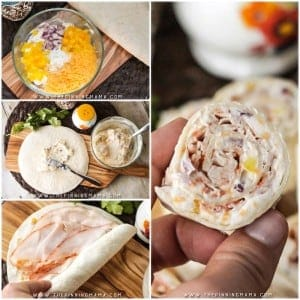 Turkey Ranch Roll Up Recipe - A quick and easy appetizer or lunch box idea! These are super creamy and delicious packed with healthy fresh veggies, creamy cheese, wholesome turkey breast, and delicious ranch flavor! You have to give them a try!