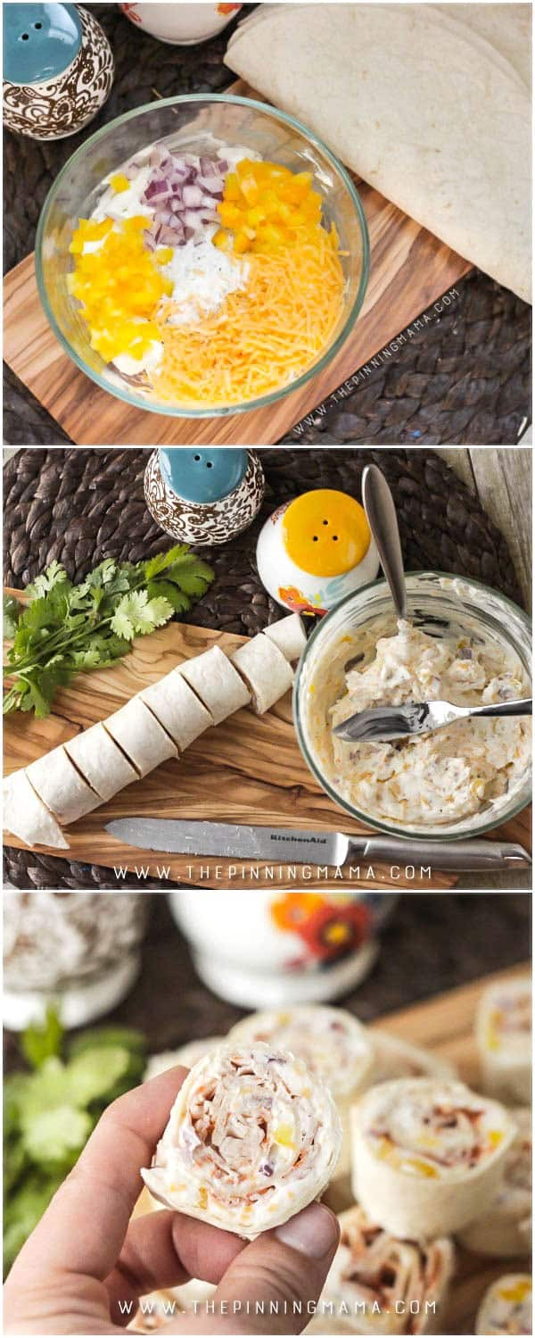 Creamy Turkey Ranch Roll Ups have only 7 simple ingredients and you can make them so fast! These make the perfect party appetizer! YUM!