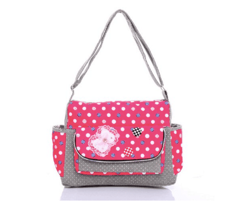 10+ Coolest Backpacks for Girls: Polka Dot Messenger| www.thepinningmama.com