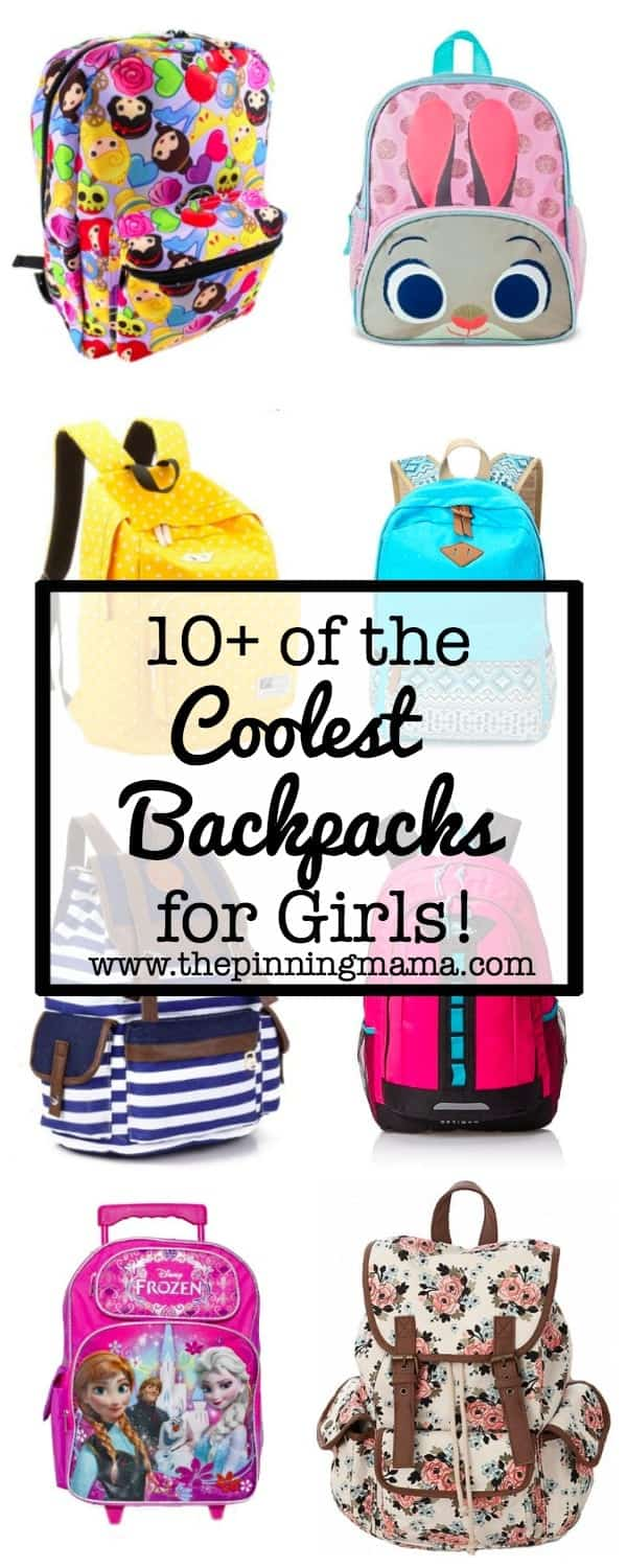 10+ Coolest Backpacks for Girls| www.thepinningmama.com