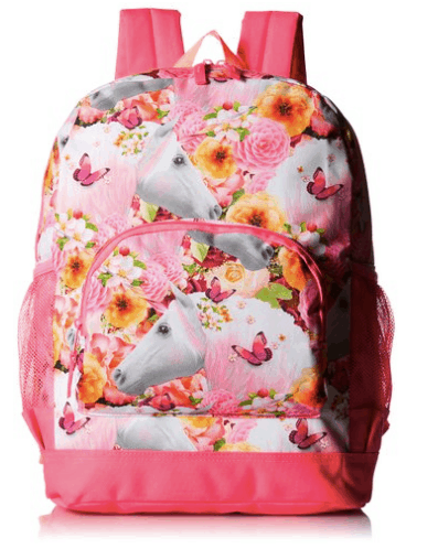 10+ Coolest Backpacks for Girls: Big Girl Unicorn| www.thepinningmama.com