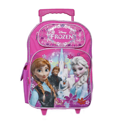 10+ Coolest Backpacks for Girls: Frozen Roller| www.thepinningmama.com