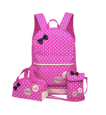 10+ Coolest Backpacks for Girls: Polka Dot Bow | www.thepinningmama.com