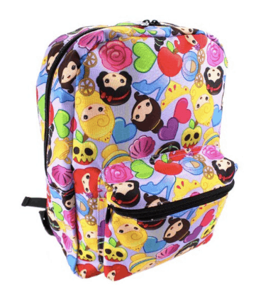 10+ Coolest Backpacks for Girls: Disney Princess Emoji | www.thepinningmama.com