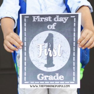 Free Printable First Day of School Signs {Chalkboard & Color}