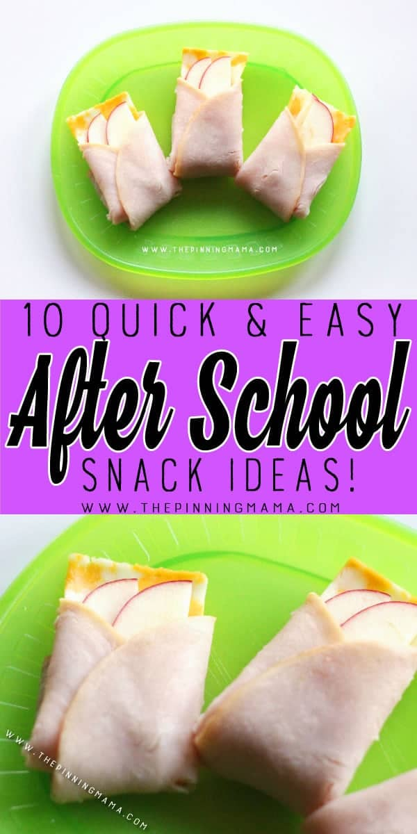 Meat Cheese Apple Pockets Snack - 10 Quick and Easy After School Snack Ideas for Kids. You can literally make all of these in only 5 minutes!!