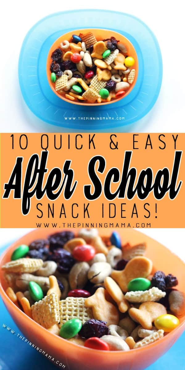 Quick Snack Mix - 10 Quick and Easy After School Snack Ideas for Kids. You can literally make all of these in only 5 minutes!!
