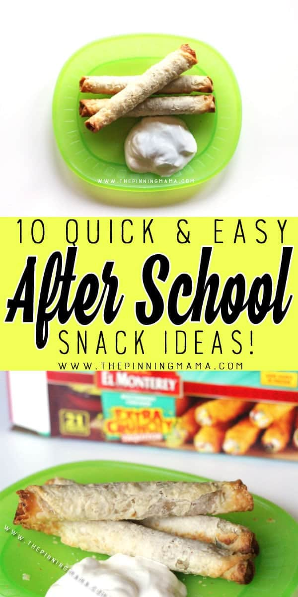 Chicken Taquitos - 10 Quick and Easy After School Snack Ideas for Kids. You can literally make all of these in only 5 minutes!!