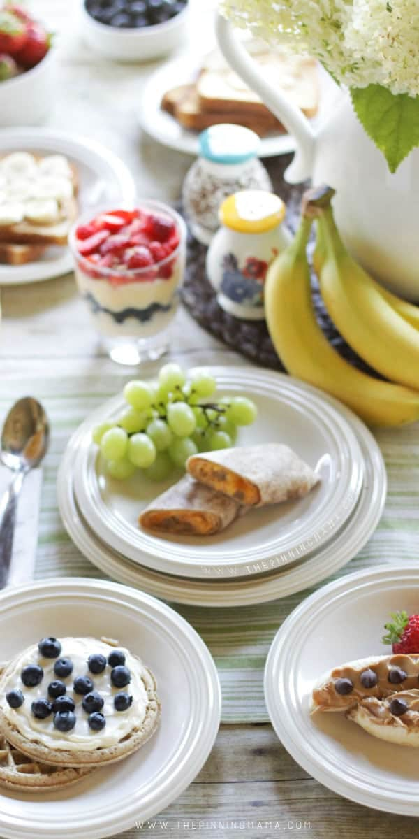 Six quick and easy breakfast ideas ! These are healthy and filling and perfect for before school or work! I think my kids will eat everything on this list!