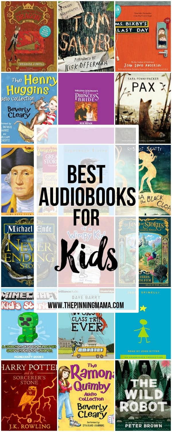 25 Great Audio Books for Kids! This is a great way to get kids to read and love books!
