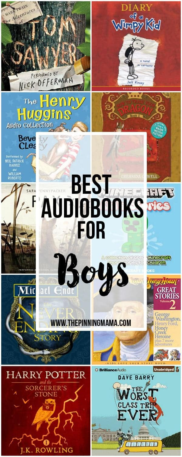 Best Audiobooks for Boys - Great collection of audio book ideas for kids!