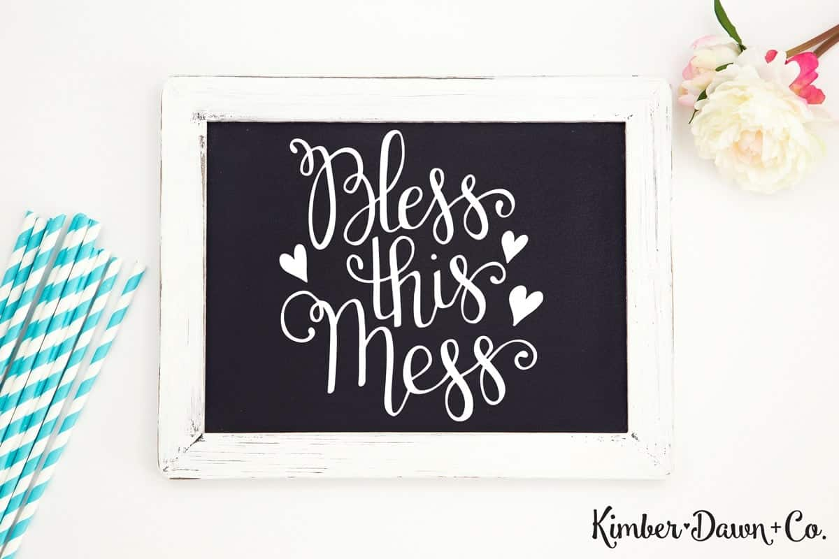 Bless This Mess - Free Cut File for Silhouette CAMEO + Cricut crafts
