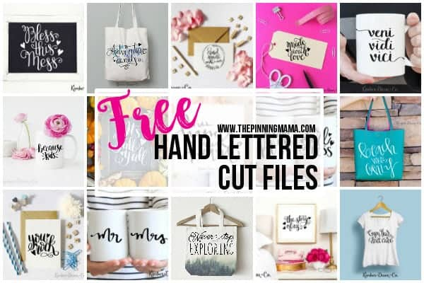 15 gorgeous free hand lettered cut files the pinning mama