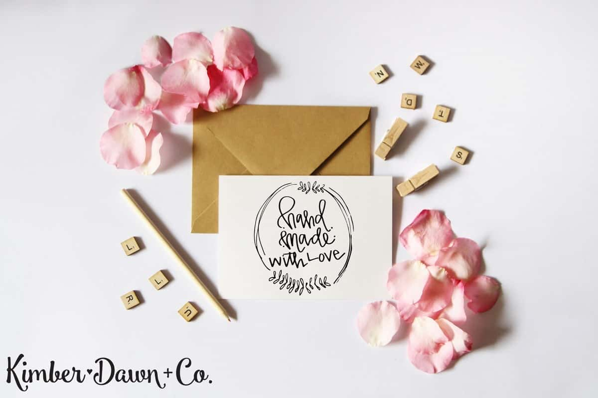 Hand Made with Love - Free Cut File for Silhouette CAMEO + Cricut crafts
