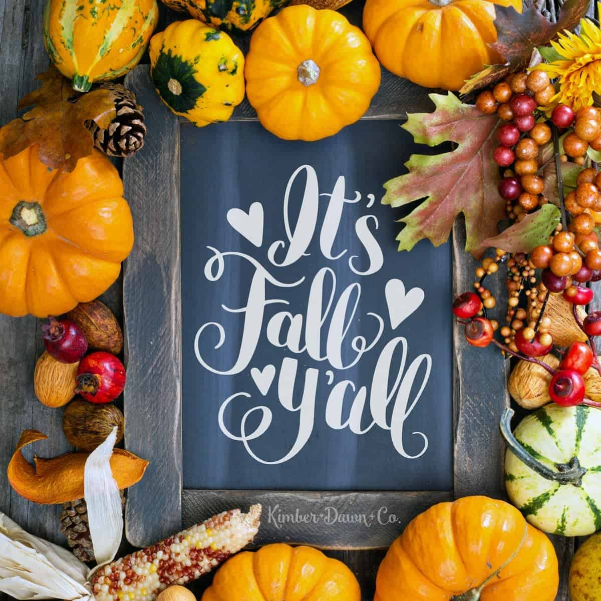 It's Fall Yall - Free Cut File for Silhouette CAMEO + Cricut crafts